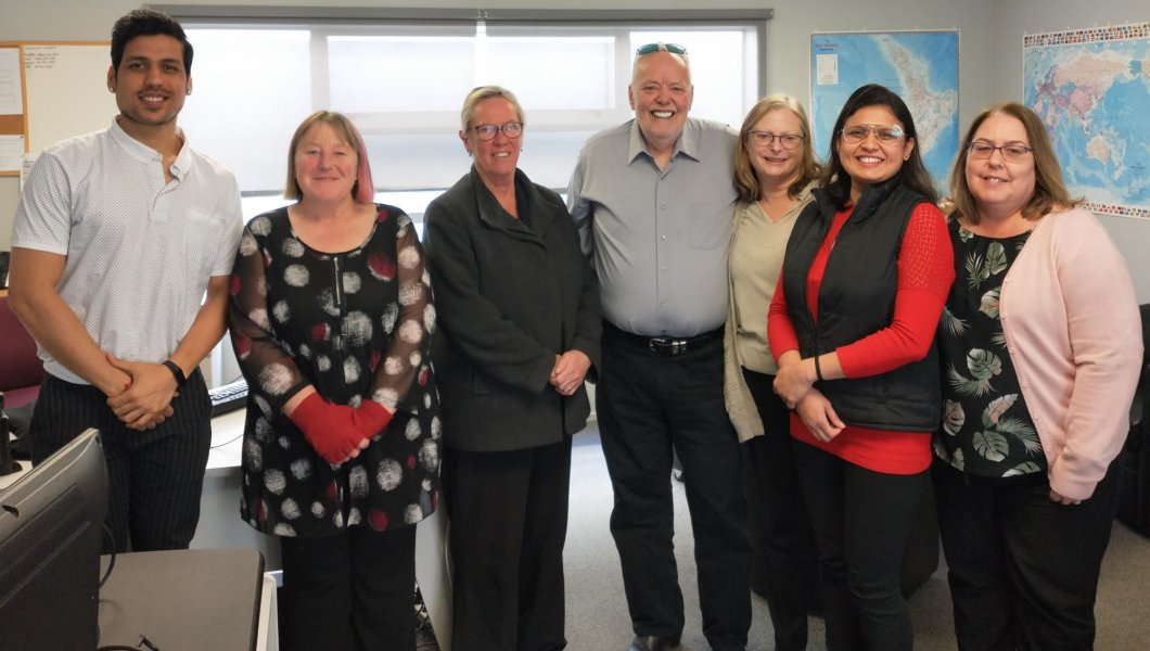 Labour MP, Ruth Dyson visits our Christchurch office
