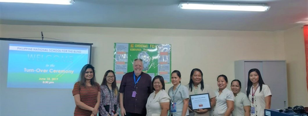 Pacific Vision International donation of Fusion Licenses to the Philippine National School of the Blind in Manila